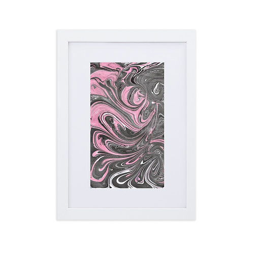 Pink on black swirls