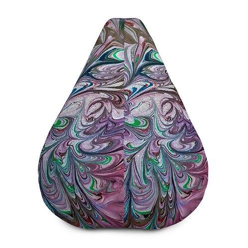Violet marbling swirls