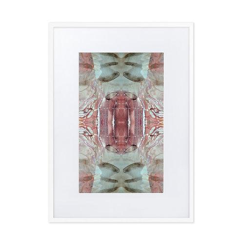 Pink gemstone marbling
