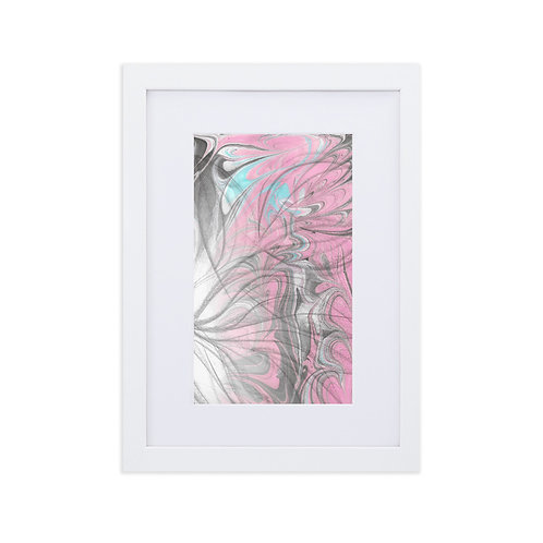Charcoal leaves with pink marbling
