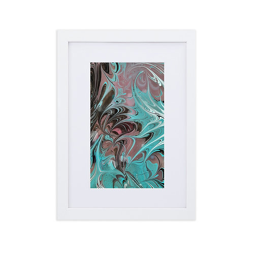 Ink feathers-marbling artwork
