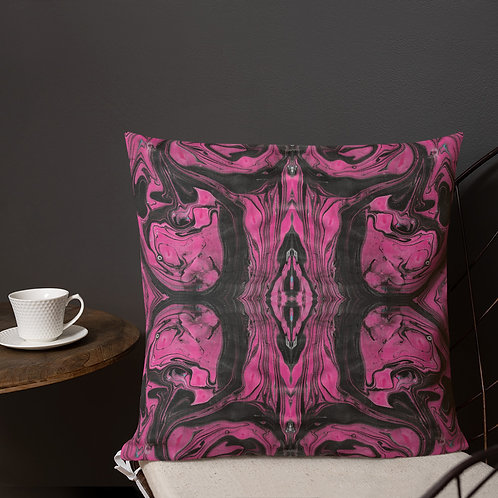Fuchsia and black marbling patterns