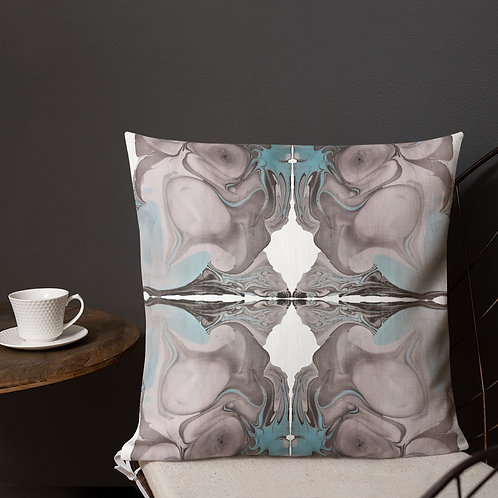 Grey and turquoise marbling