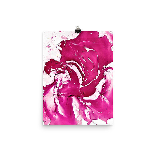 Abstract magenta petals