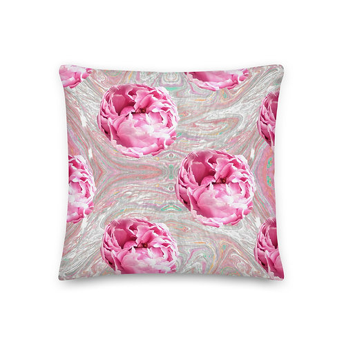 Pink peonies with marbling