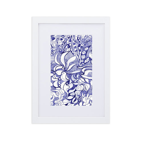 Blue biro doodle