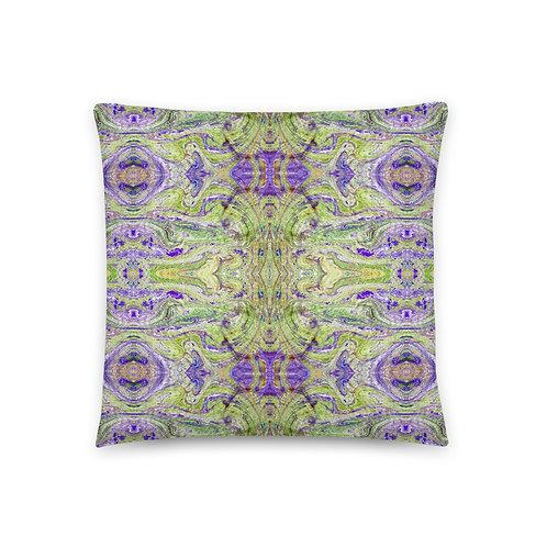 Liberty inspired marbling patterns pillow