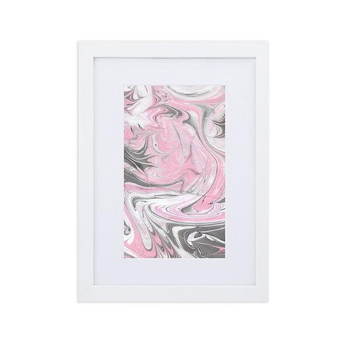 Pinks swirls on grey