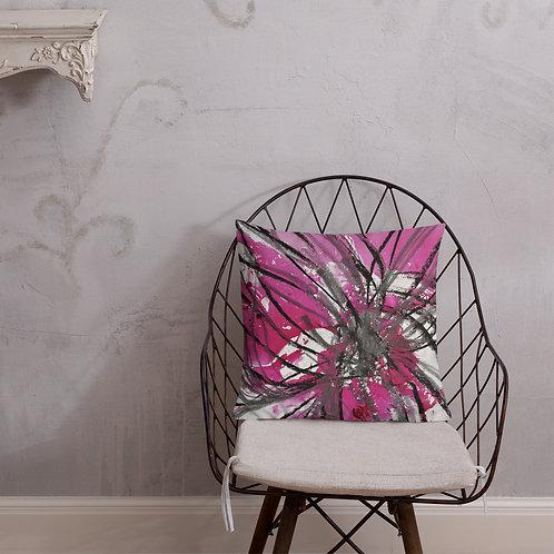 Charcoal and magenta petals IV