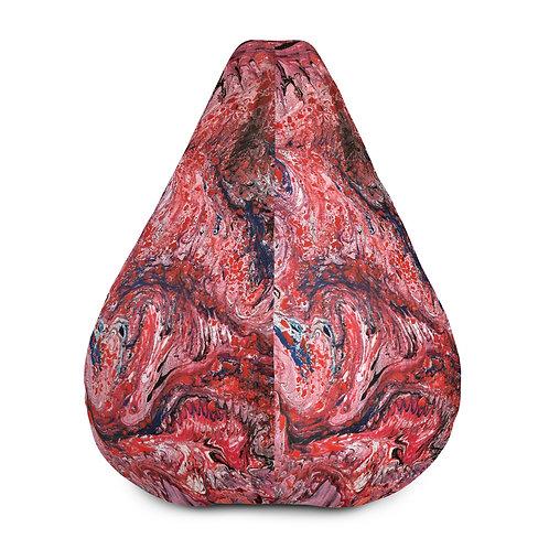 Red marble veins