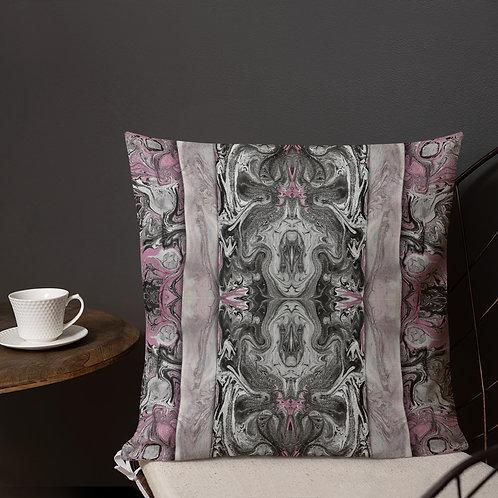 Grey on pink marbling collage