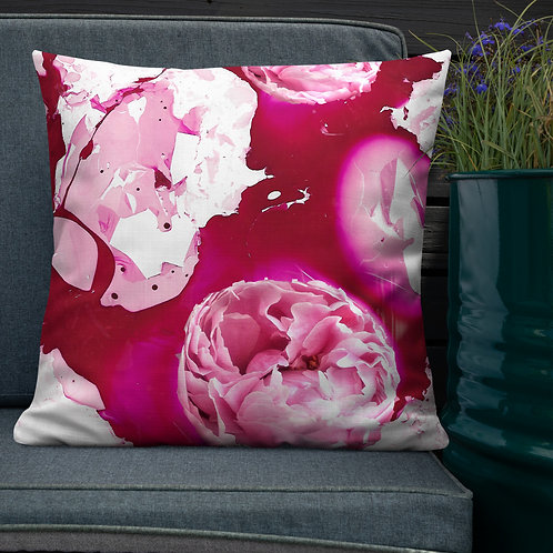Peonies with magenta marbling