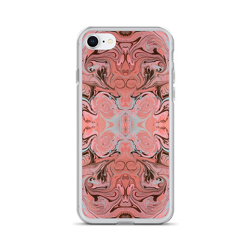 Pink Arabesque Marbling