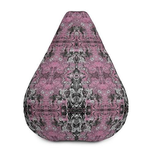 Pink on grey marbling