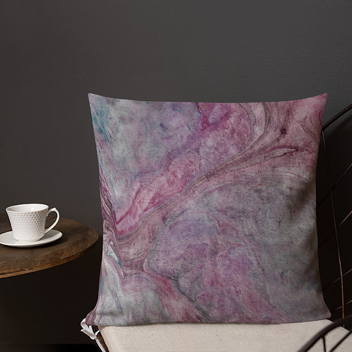 Abstract amethyst marbling
