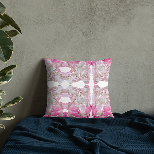 Magenta and gold marbling patterns