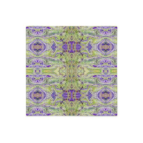 Acid green arabesque-Liberty inspired marbling artwork