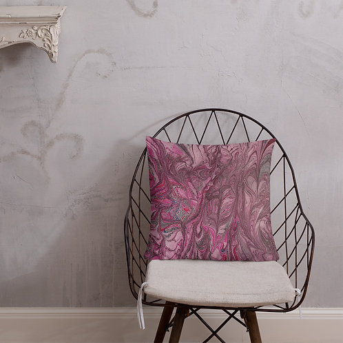 Burgundy abstract marbling