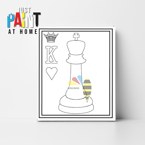 """JustPaint at Home """"Love and Royalty King"""""""