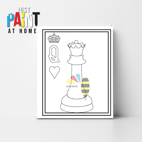 """JustPaint at Home """"Love and Royalty Queen"""""""