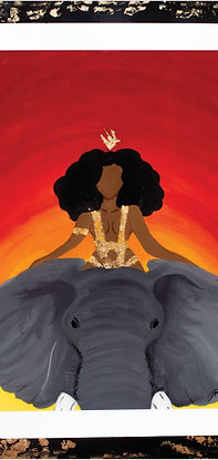 """""""Queen Riding an Elephant"""" Print"""