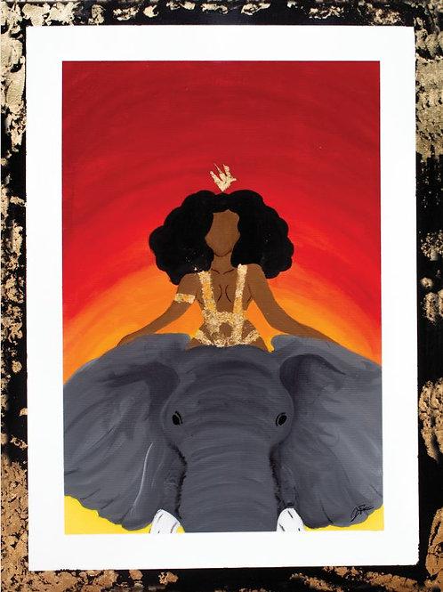 Queen Riding an Elephant