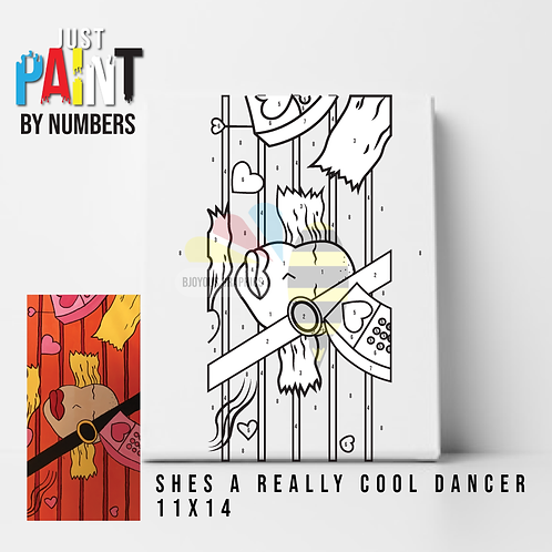 "JustPaint by Numbers ""She's a really cool dancer"""