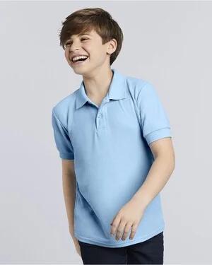 Gildan Youth DryBlend Double Pique Sport Shirt w/ Embroidery