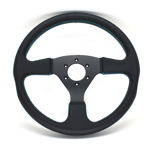 #1 Dry Carbon Steering/Twill with Smooth Leather
