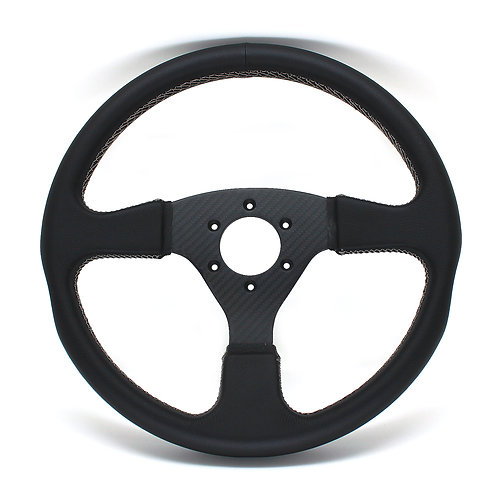 #3 Dry Carbon Steering/Twill with Smooth Leather