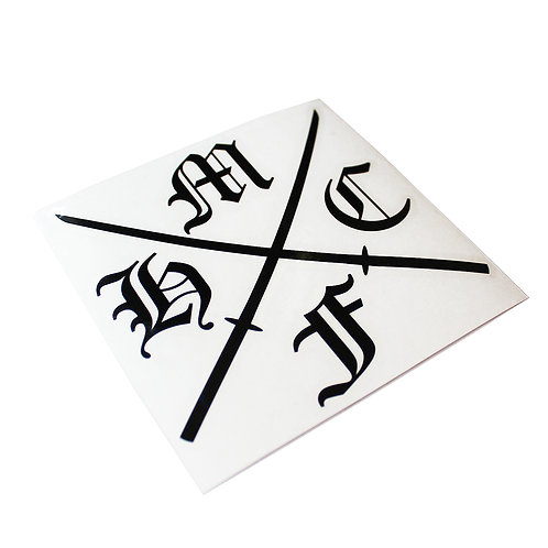 HC SWORD LOGO DECAL STICKER BLK