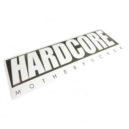 HC BASIC LOGO DECAL STICKER BLK