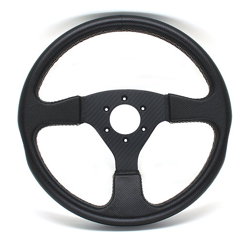 #6 Dry Carbon Steering/Twill with Smooth Leather