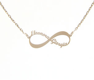 SILVER necklace - infinity sign with nam