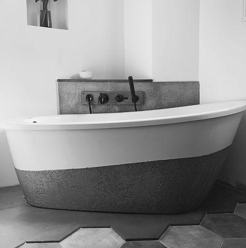Max Saax tub dipped in GFRC
