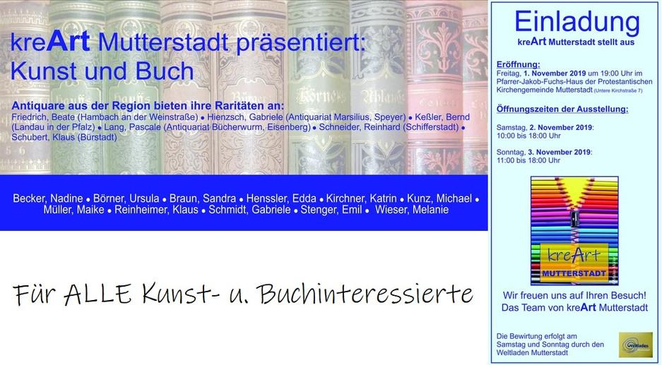 Ausstellungseinladung kreArt Mutterstadt