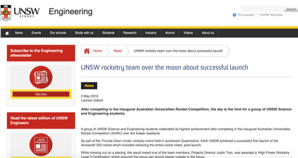 UNSW Engineering Website
