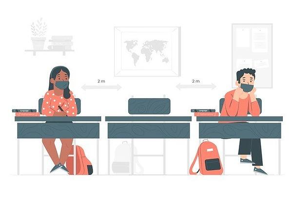 social-distance-school-concept-illustrat