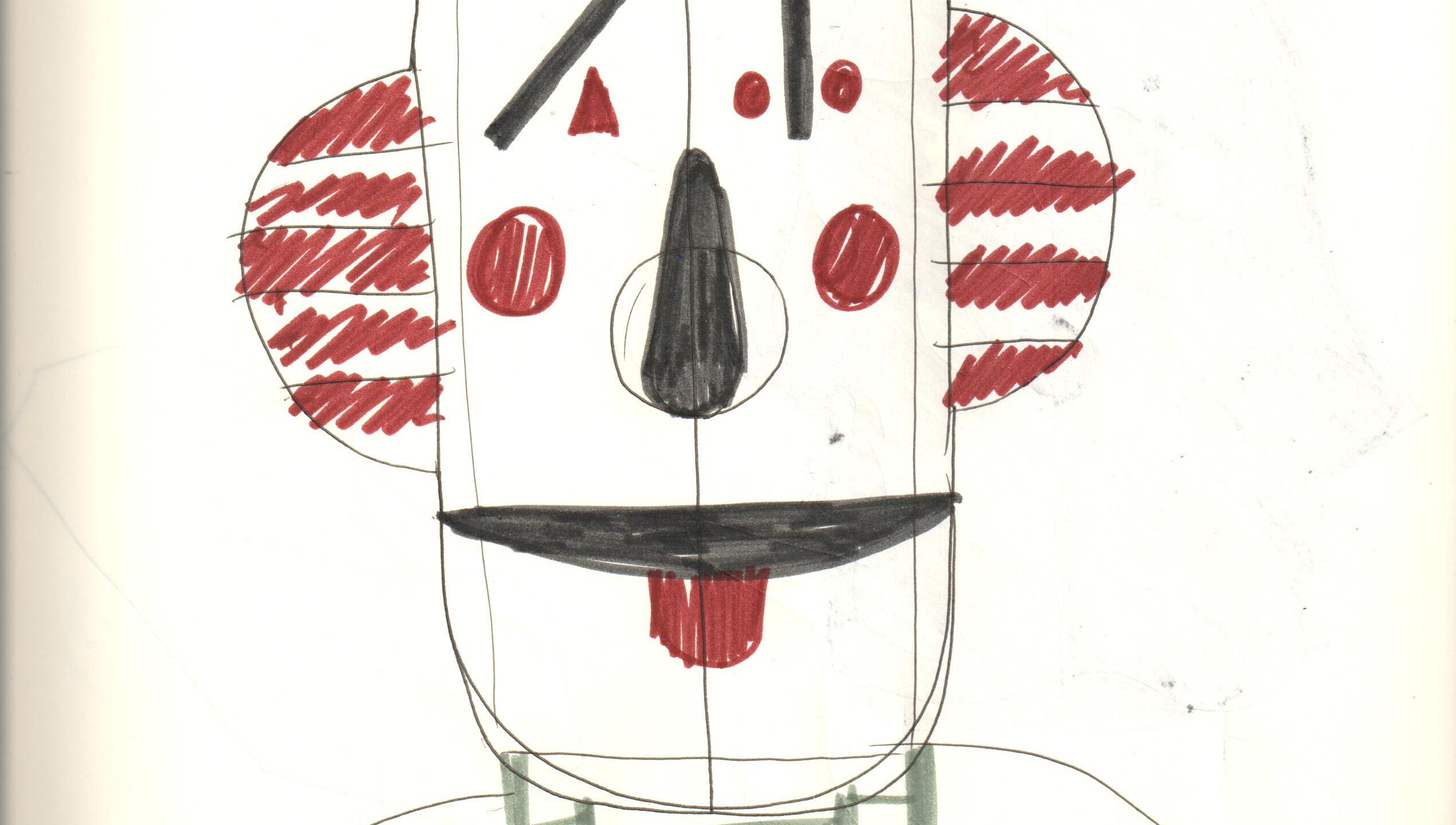 Face cabinet, sketch by Jaime Hayon - image credit to Hayon Studio