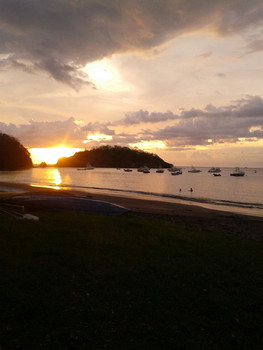Sunset at Ocotal Beach