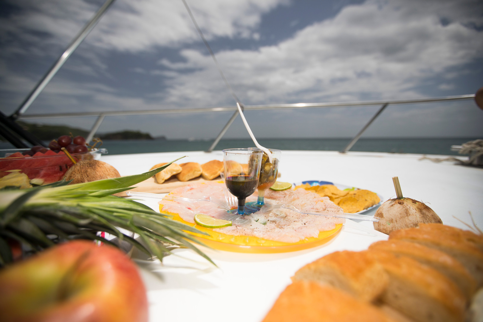 Fresh Ceviche and Sashimi Made from Your Catch!