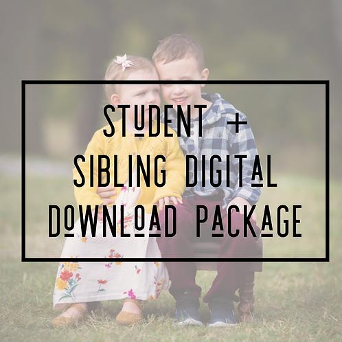 Student + Sibling(s) Digital Download Package