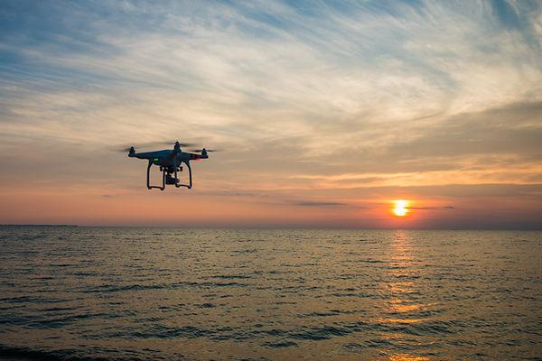 Drone Sea Sunset