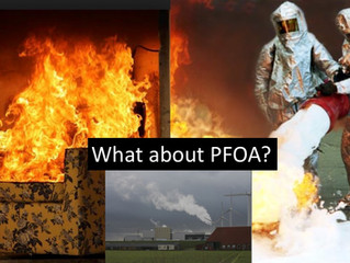 PFOA emissions from an incinerator