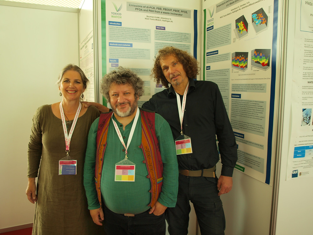 Kirsten Bouman, Jindrich Petrlik and Abel Arkenbout at the Dioxin2018 in Krakow