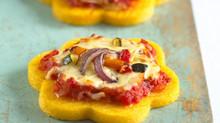 For Fussy Eaters - Mini Polenta Pizzas by Annabel Karmel
