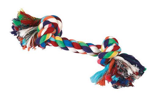Corde nouée en coton 37cm