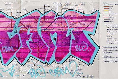 Graffit London tube map