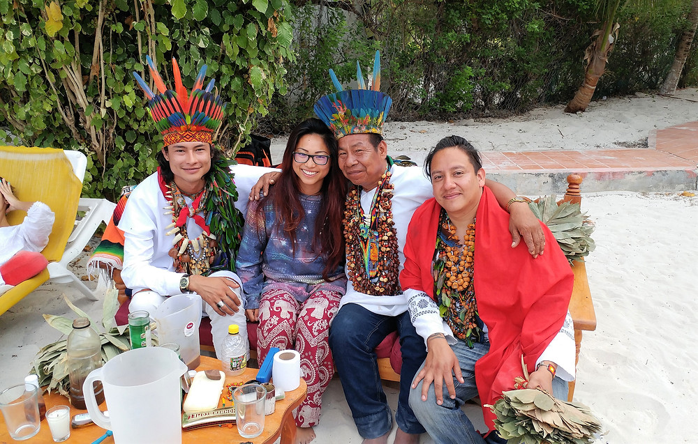 Me with the shamans after the last ceremony