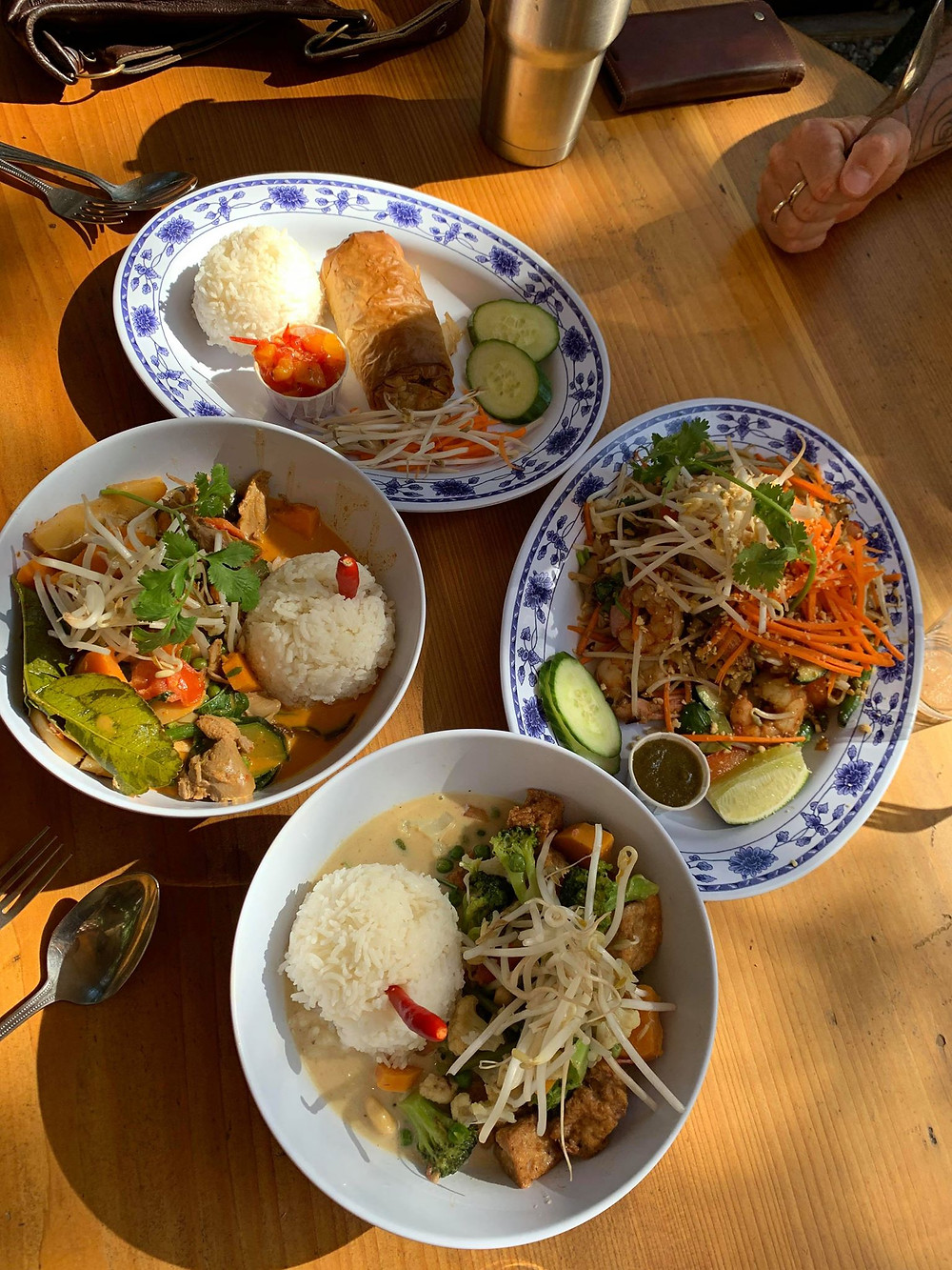 Pad thai, curry, and other amazing food at Wild1 Cookhouse on Galiano Island